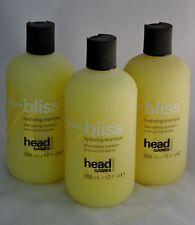 LOT OF 3 Head Games Moisture Bliss Hydrating Shampoo 12oz / 350ml