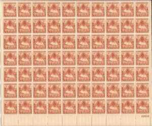 US Stamp - 1948 Fort Bliss - 70 Stamp Sheet - Scott #976
