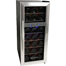 21Bottle Dual-Zone Wine Cooler Refrigerator, Compact Stainless Steel Mini Fridge