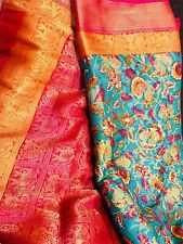New Benaras Saree Blouse -Party Wedding not Kanchipuram Pattu Katan Silk