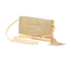Badgley Mischka BLAKE Perforated Leather Crossbody Shoulder Bag GOLD NWT c80f6564451a4