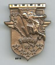 Insigne génie , GCP. /  17  Rgt. du Génie Parachutiste.- MOSTAR 97, ( tout métal