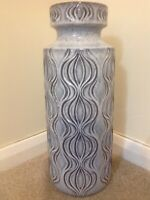 Rare Silver/Grey Amsterdam Onion Fat Lava West German Pottery Retro Vintage Vase