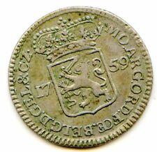 Gelderland (Dutch state) 1/4 Gulden 1759 KM-88 pretty HG coin scarce lotjan9560