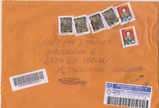 Cover registered mail 2007 Brasil to Holland 4x MI 3362 2x MI 3463A