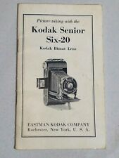 Eastman Kodak Senior - Six-20 Instruction Book Manual Camera