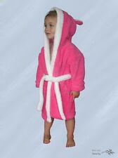 Süsser Baby - Kinder Bademantel Pink mit Kapuze Kuschelweich