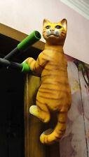 Kater Tierfigur Figur Katze Kletterkatze Klettert Lebensgroß Kunstharz Groß B