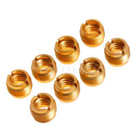 8pcs Gold Thread Convert Screw Adapter For Mic Audio Stand Head Mount