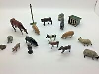 Vintage Lead Britain's  J Hill Farm Animals Pigs Horse and Beehive Etc