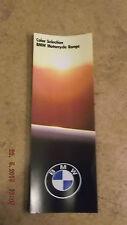 BMW Clásico Pintura Color SERIE FOLLETO 1984R Series / K Series