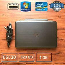 Dell Latitude E5530  Core i3-3110M 2.4GHz 4GB 320GB win 7 Laptop HDMI CAM 15.6in