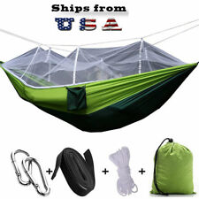 """Durable Hammock with Mosquito Net for Outdoor Camping Traveling L102.3""""xH55"""" US"""