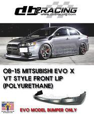 VT-Style Front Lip Voltex (Urethane) Fits 08-15 Mitsubishi EVO X 10 Front Lip