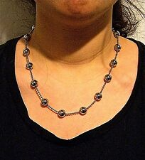 "STAINLESS STEEL 10MM HOLLOW DEAD NECKLACE, 18"" LONG + 2"" EXTENDER"