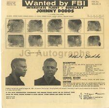 Wanted Notice - Johnny Dodds/Interstate Flight - Burglary - FBI - 1960