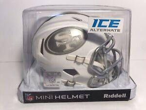 SAN FRANCISCO 49ers UNSIGNED RIDDELL SPEED ALTERNATE ICE MINI HELMET NEW IN BOX