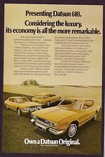 1973 Original Vintage Datsun 610 Hardtop Car Art vintage print ad
