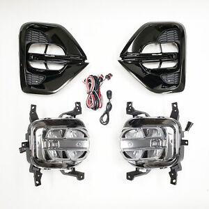 For 2020-2021 Kia Sportage KX5 Clear Lens LED Fog Light w/ Bezel Switch Wire