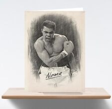 Personalised Muhammad Ali Boxing Art/Sketch/Drawing Birthday Card