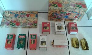 Vintage BOXFULL 13 Foil Christmas Decorations Fringe Garland Gold Twist