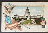 1910 Austin Texas Griffin Saskatchewan Canada Patriotic Picture Postcard Cover