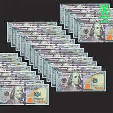 35 Pieces Invalid Funny Fake Training $100 Game Size Paper Money $3.500 Cash UNC
