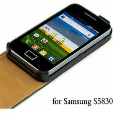 BLUE Leather Phone Case  Card Slots for Samsung Galaxy Ace GT-S5830 / GT-S5830i