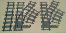 LEGO ® CITY FERROVIA flessibile morbido COPPIA 2x destra 7895 7499 7996 bricktrain