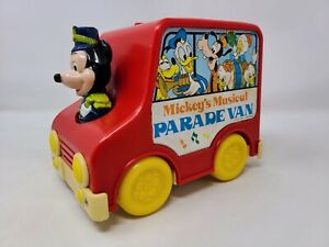 VINTAGE MICKEY'S MUSICAL PARADE VAN MUSIC BOX WALT DISNEY L.J.N. TOY HONG KONG