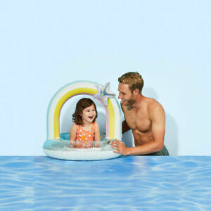 Inflatable Rainbow Ring Young Ones Will Have A Great Time In The Pool With This