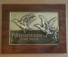 Vintage Wiedemann's Fine Beer Sign BRUCE FOX HAND WORK COPPER New Albany Indiana