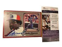 Andre Dawson Autograph Signed 1983 Donruss Large Card HOF Expos Cubs JSA