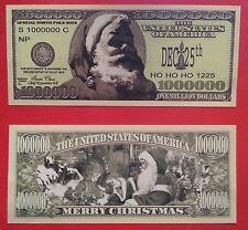 One Million Dollar Santa Claus Bill.  Lot of 2. Great Christmas Stocking Stuffer