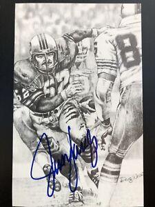 Jim Langer Signed Autographed Postcard Miami Dolphins
