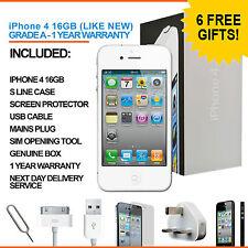 Apple Iphone 4 16GB Blanco Desbloqueado De Fábrica Grado A