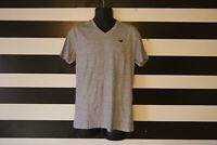 Hollister Men's Gray T-Shirt Short Sleeve V-Neck 100% Cotton Size M