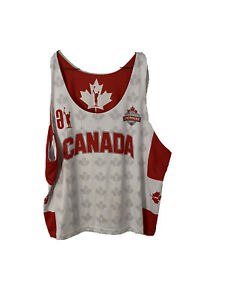 MENS Large?? Canada Lacrosse Games Reversible No Sleeve Lacrosse Jersey Pinny