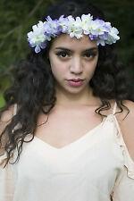 Blanc Violet Fleur D'hortensia Cheveux Couronne Couronne Bandeau Coiffure Boho
