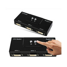 DVI 2 Port 2:1 Manual Switcher Selector TV LCD Switch BoxMonitor Single Mode