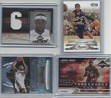 "Lebron James Panini 4 Card ""RARE"" Lot --- Each Card #'d to 10 --- FREE SHIPPING!"
