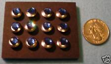 Lot(12), Crystal Embellished Thumb Tacs, Push Pins, Sapphire