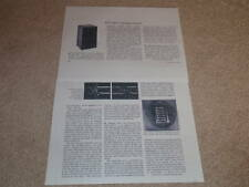ESS AMT-5 Speaker Review,1974,2 pgs,FULL TEST, Heil Air