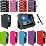 For TESCO HUDL TABLETS - PU LEATHER FOLDING STAND FLIP CASE COVER WALLET