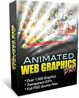 1,000 Top Quality Animated Web Graphics Will Get Website Visitors Attention (CD)