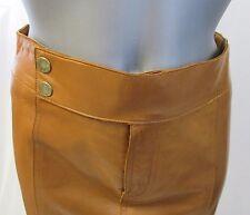 RALPH LAUREN Black Label Brown Leather Pencil Skirt Size 2/4 - NWT $1698.00
