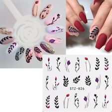 Nail Art Water Decals Stickers Transfers Fern Leaf Flowers Floral Winter (826)