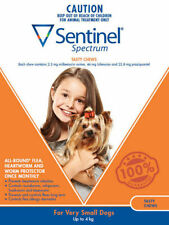 Sentinel Flea and Worm Treatment for Small Dogs up to 4kg (6 pack)