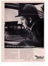 "1962 Gamewell Fire Alarm Systems ""There's No Excuse Now"" Vintage Print Advert"