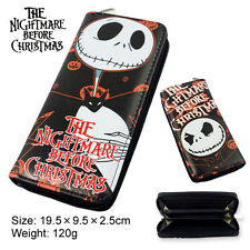 Disney Nightmare Before Christmas Jack Skellington Wallet Long Purse Great Gift